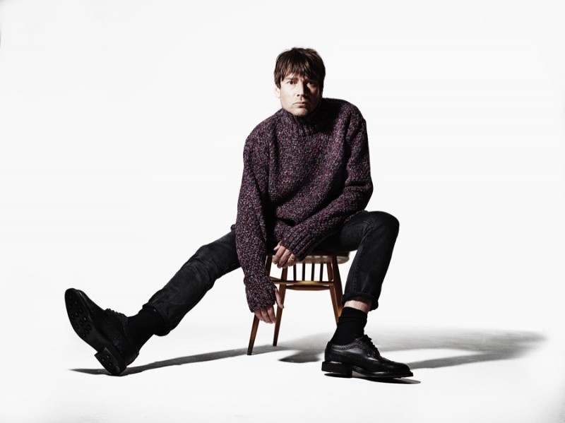Alex James photographed by Rankin for Oliver Spencer Fall/Winter 2015