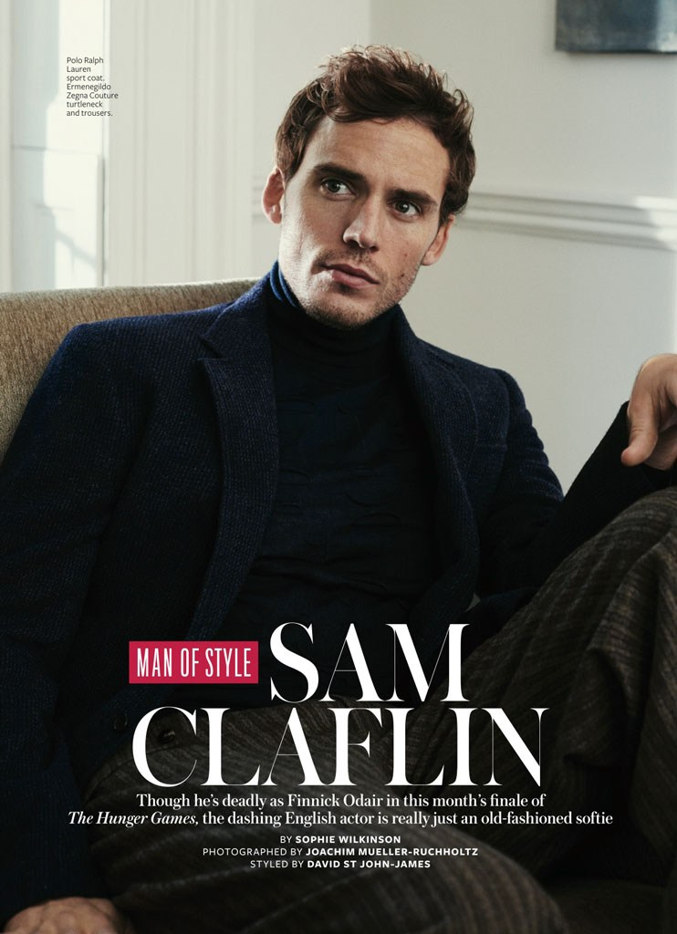Sam Claflin appears is InStyle's 'Man of Style'