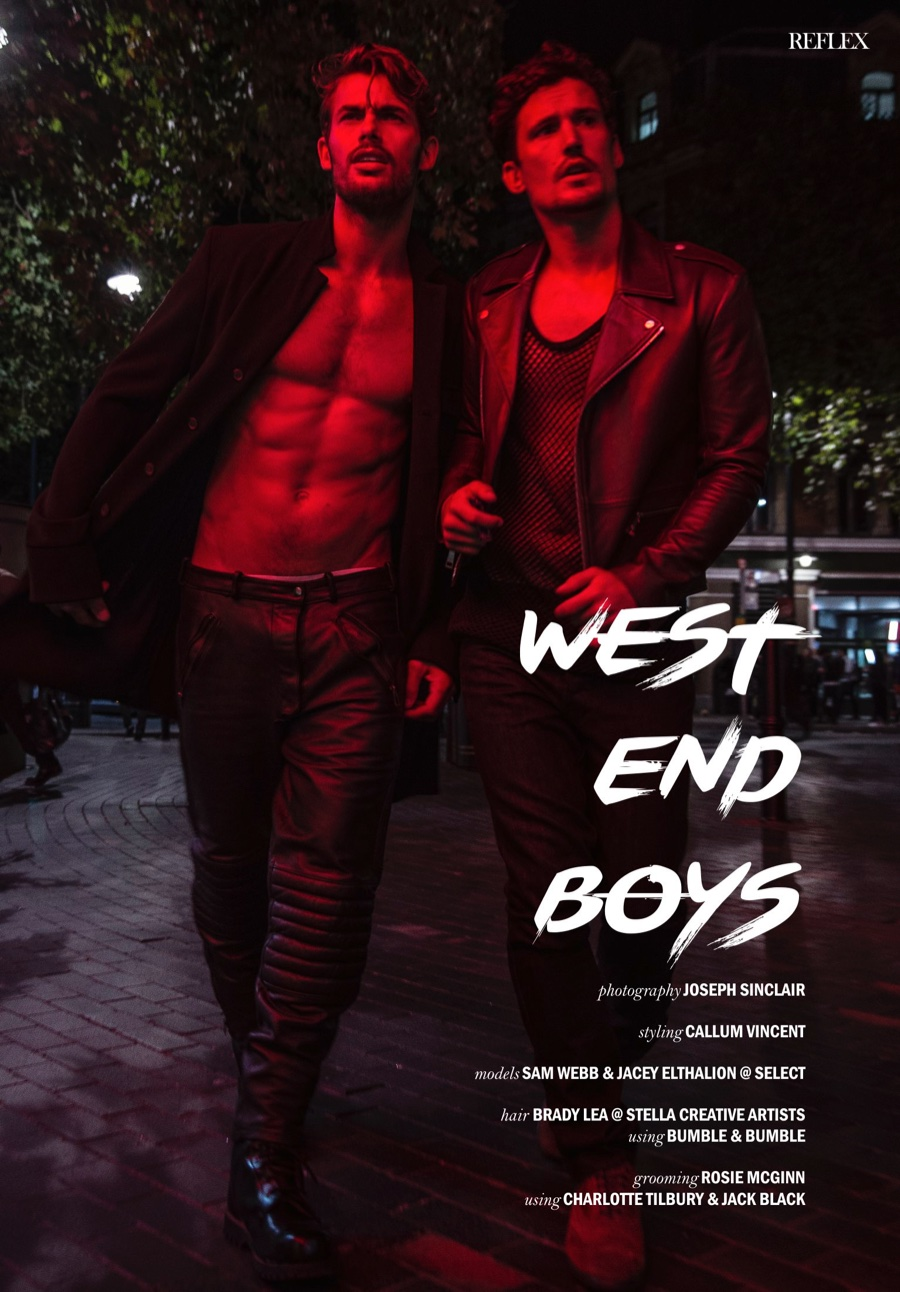 Sam Webb + Jacey Elthalion are 'West End Boys' for Reflex Homme