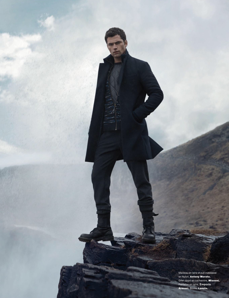 Sean O'Pry Braves the Elements for Numéro Homme