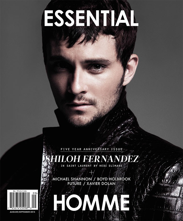 Shiloh Fernandez photographed by Jack Waterlot for Essential Homme with styling by Amy Mach.