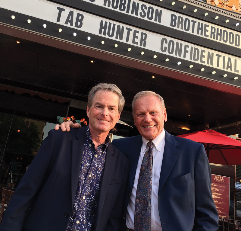 Tab Hunter today with Tab Hunter Confidential producer Allan Glaser