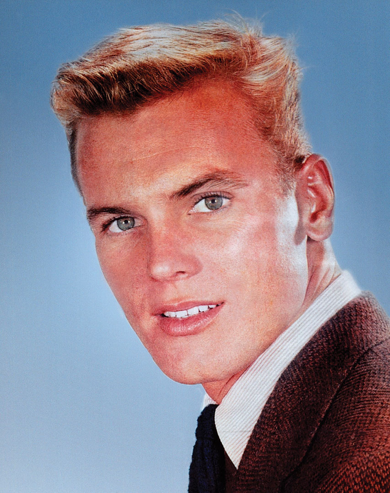 An old portrait of Tab Hunter