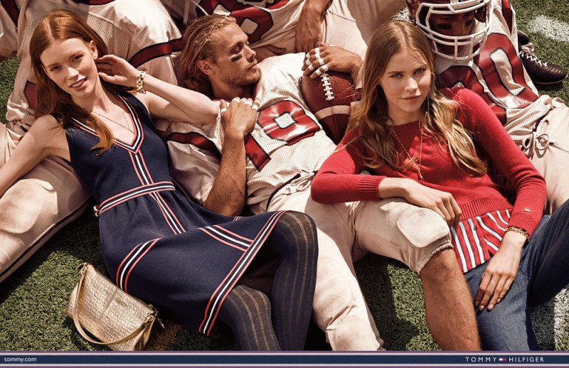 Chris Brown is front and center playing the football jock for Tommy Hilfiger's fall-winter 2015 campaign.