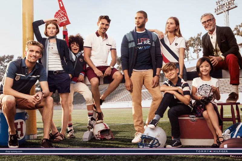 Tommy Hilfiger goes casual as the Hilfiger hits the football field for a relaxed fall-winter 2015 campaign.