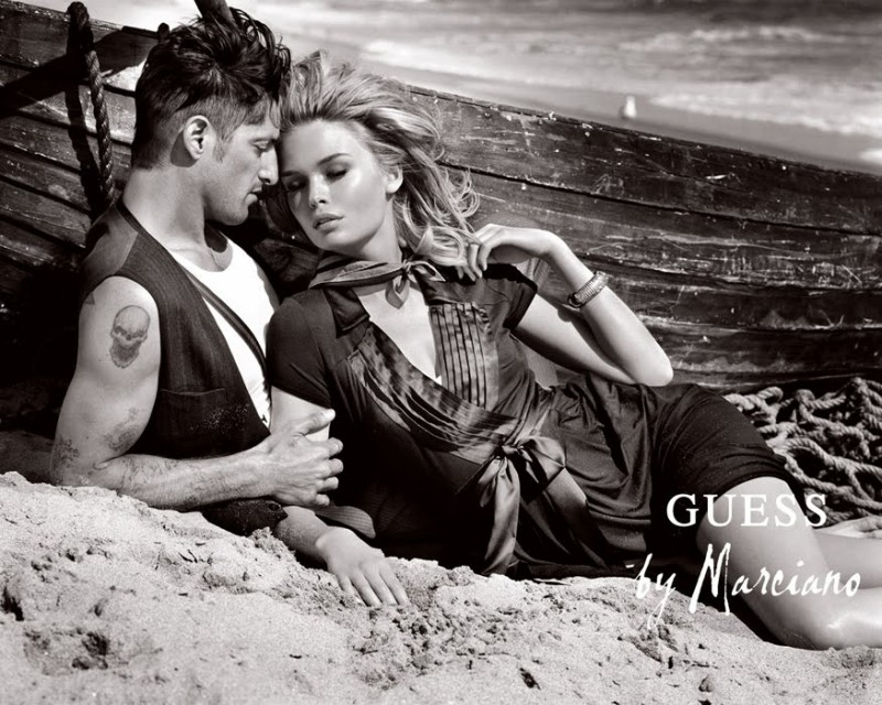 Flashback: Tony Ward photographed by Vincent Peters for GUESS' fall-winter 2009 campaign. Tony was joined by blonde beauty Siri Tollerod.