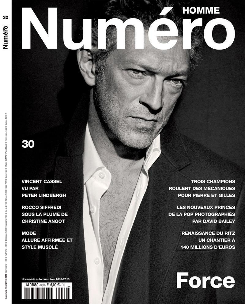 Vincent Cassel Covers Fall/Winter 2015 Numéro Homme