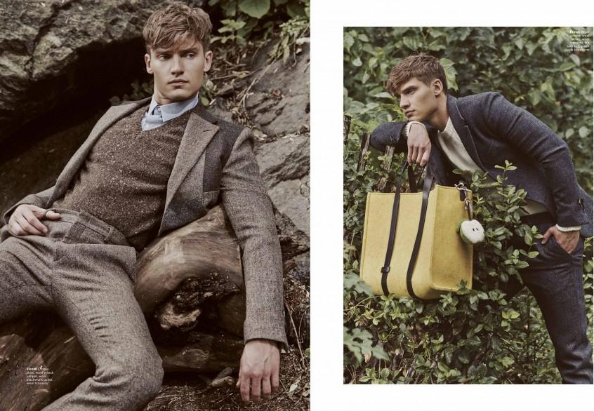 Vladimir Ivanov Models Fendi's Luxe Fashions for Men's Folio