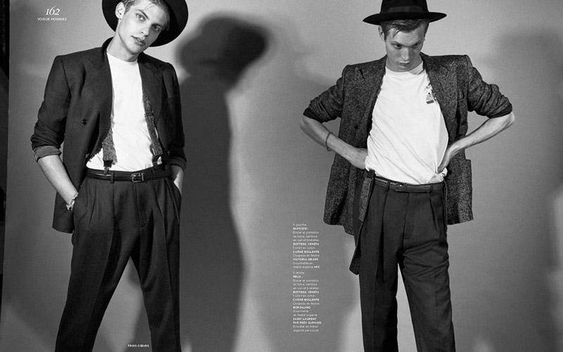 Baptiste Radufe + Felix Gesnouin Star in Vogue Hommes Cover Shoot