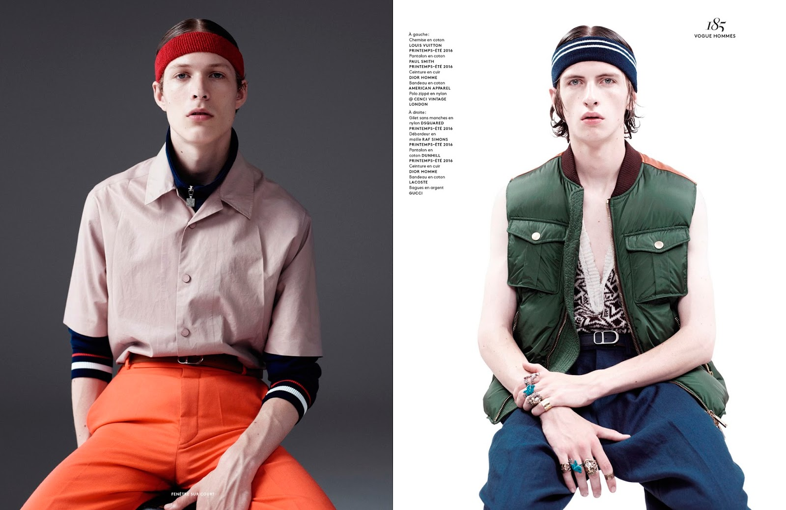 Fenêtre sur Court: Willy Vanderperre Goes Sporty for Vogue Hommes