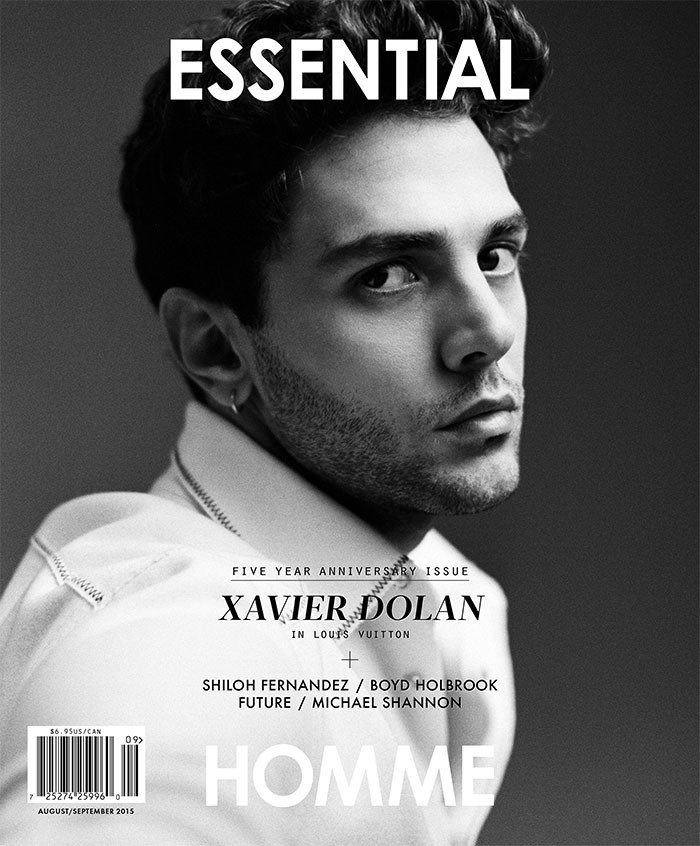 Xavier Dolan photographed by Shayne Laverdiere for Essential Homme with styling by Terry Lu.