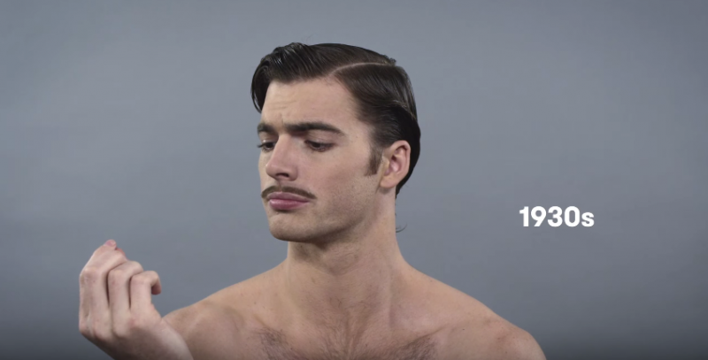 100 years of mens hairstyles 1910 2010s