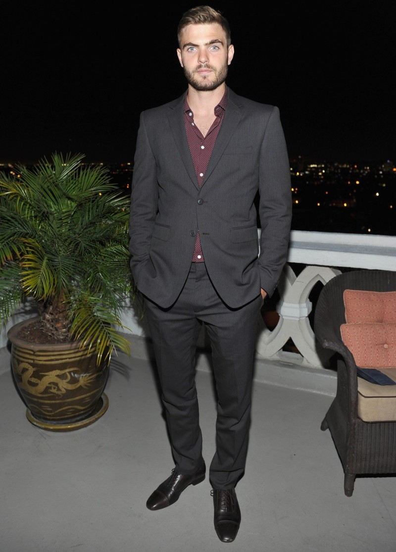 Alex Roe in Burberry