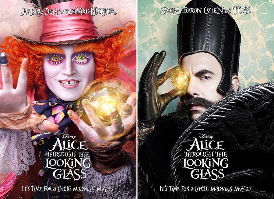 Disney Unveils 'Alice Through the Looking Glass' Posters