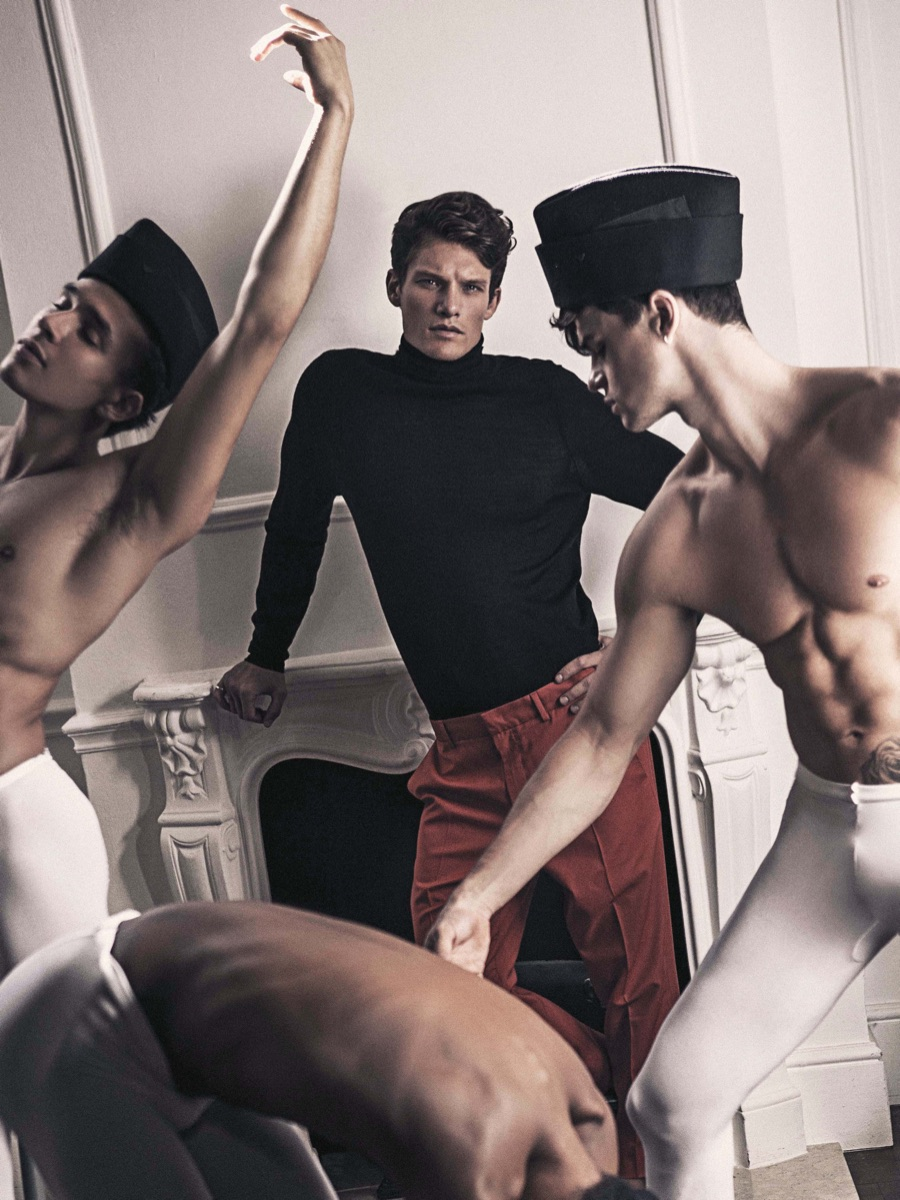 Danny Beauchamp Plays Dance Instructor for Attitude Shoot