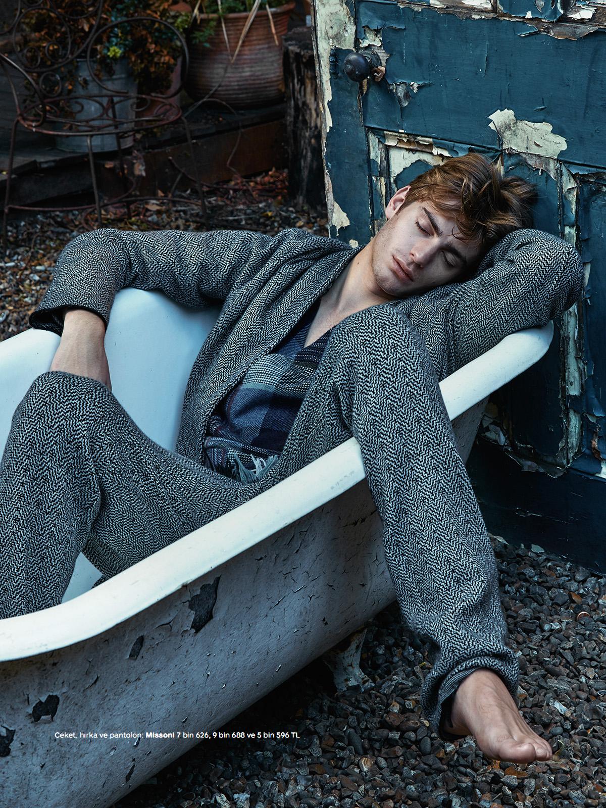 GQ Turkey: Ben Allen Models Pajama-Inspired Styles