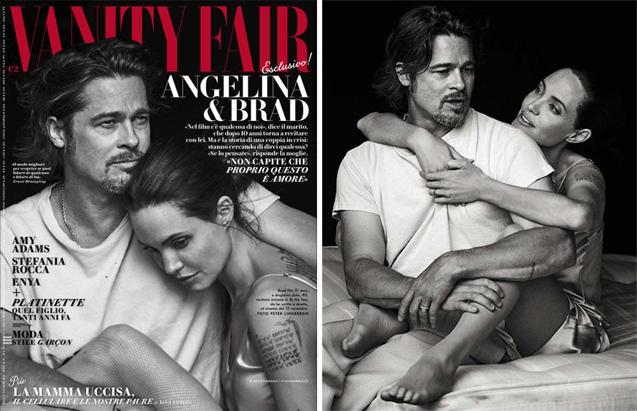Brad Pitt + Angelina Jolie Cover Vanity Fair Italia