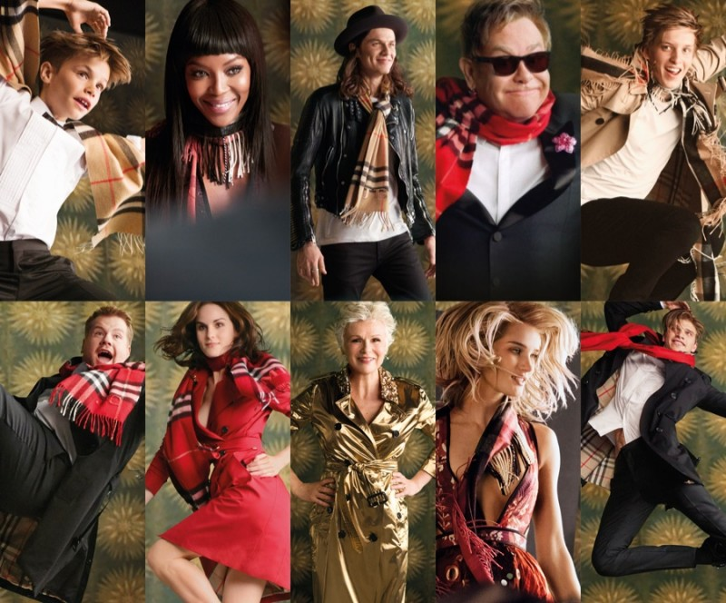 Top Row (Pictured Left to Right): Romeo Beckham, Naomi Campbell, James Bay, Elton John and George Ezra. Bottom Row: James Corden, Michelle Dockery, Julie Walters, Rosie and Toby Huntington-Whiteley.