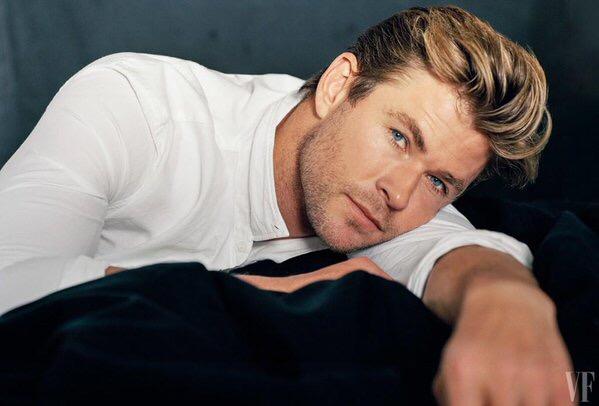 Chris Hemsworth photographed for Vanity Fair.