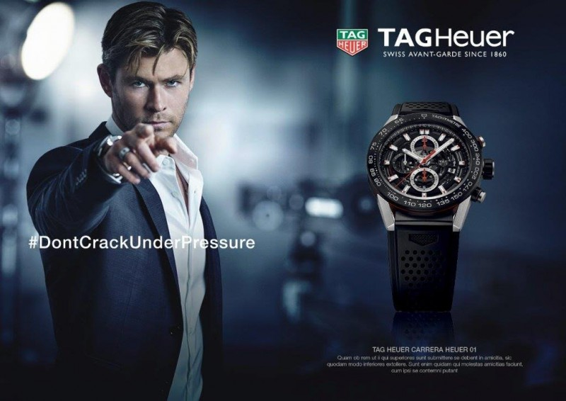 Chris Hemsworth stars in a new campaign for TAG Heuer.