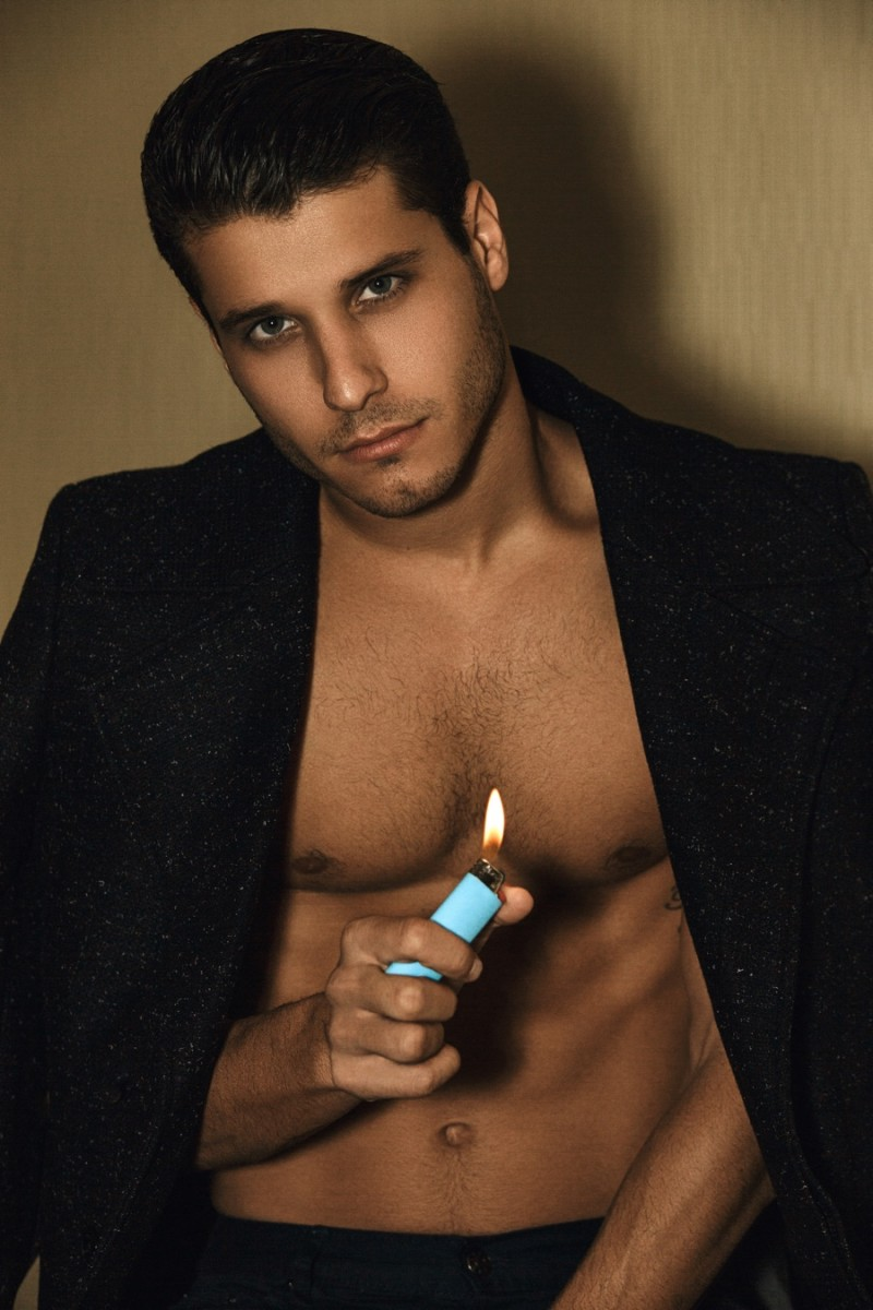 Cody Calafiore wears blazer Burberry and trousers Calvin Klein.