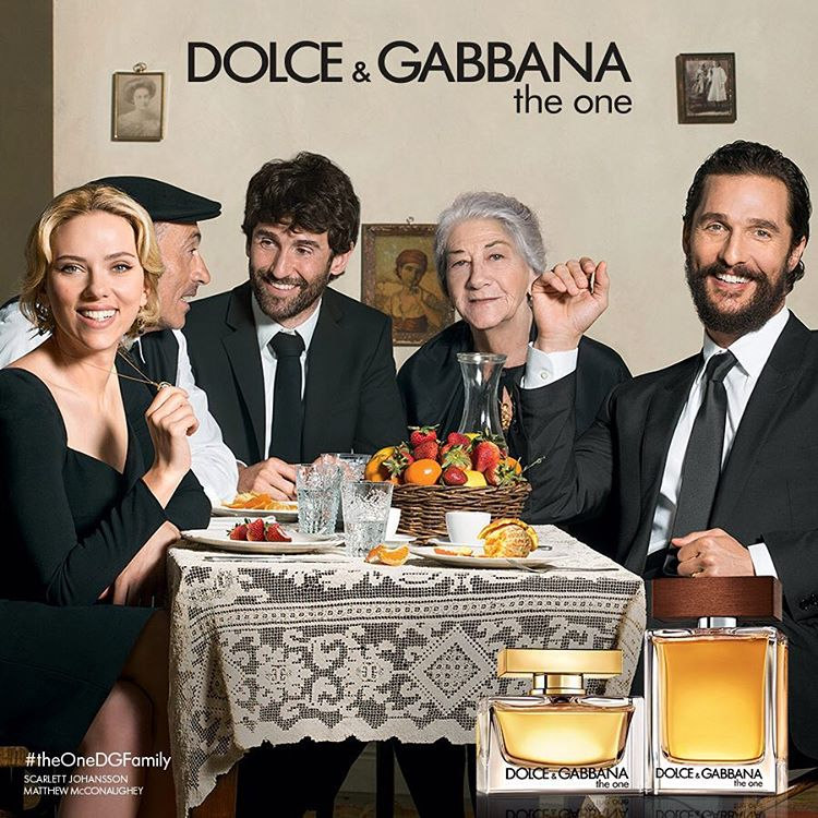 Dolce & Gabbana The One fragrance campaign featuring Scarlett Johansson and Matthew McConaughey