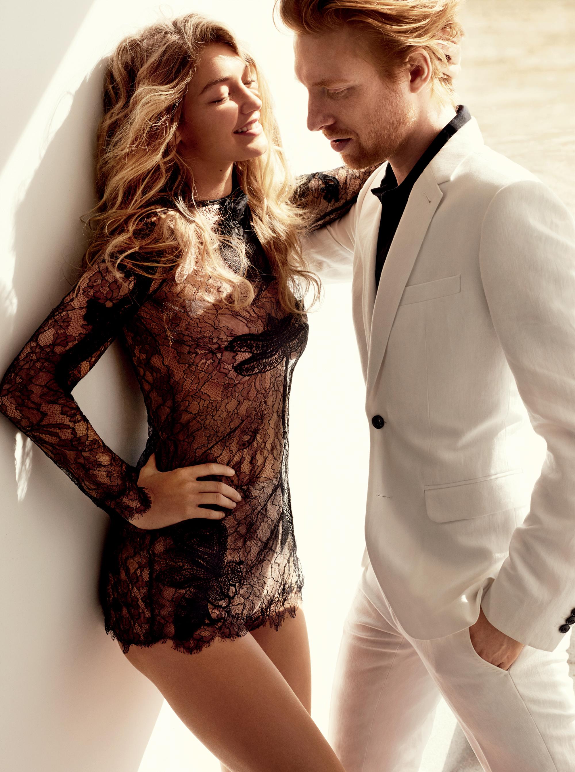 Domhnall Gleeson Joins Gigi Hadid for Vogue Shoot