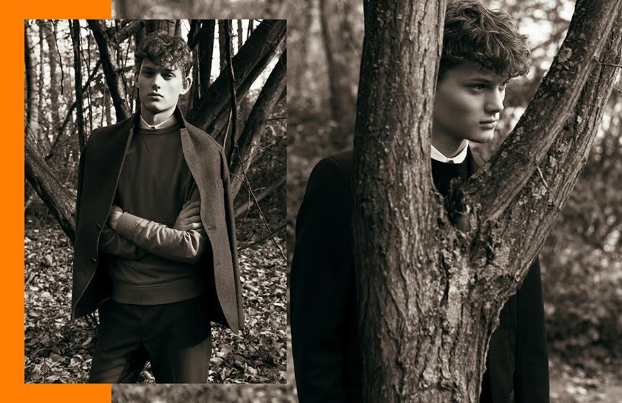The Autumn Walk: Christopher Paskowski by Dennis Weber in Hermès