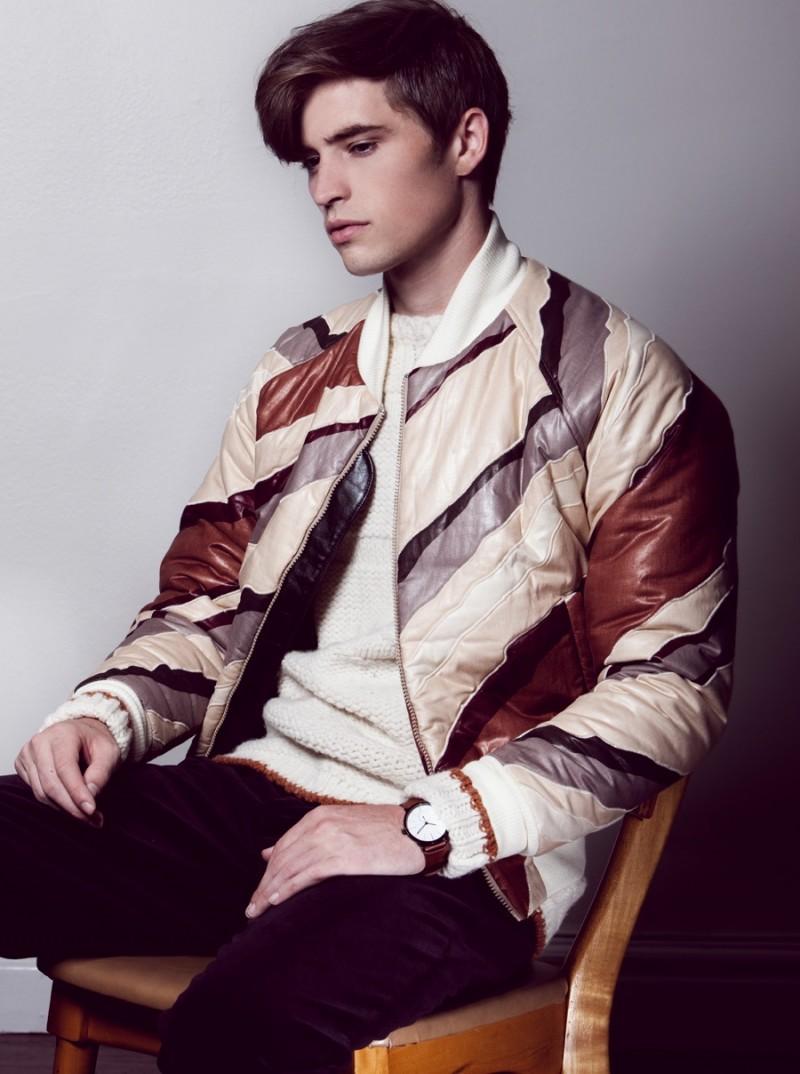 Taylor wears jacket Martin Keehn, sweater Billy Reid, pants Massimo Alba and watch Skagen.