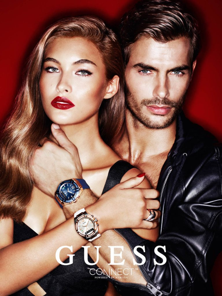 d310cd47f55 Jacey Elthalion stars in GUESS  holiday 2015 advertising campaign.