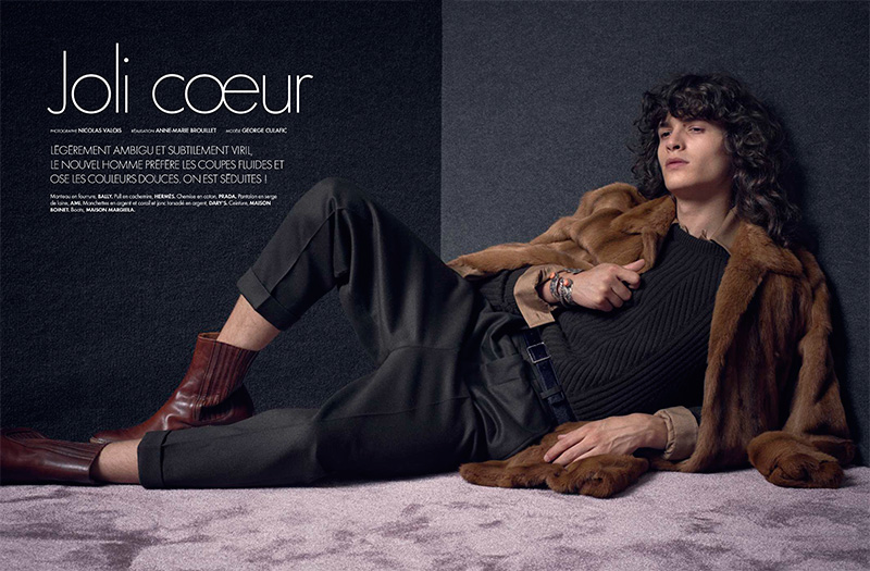 George Culafic photographed by Nicolas Valois for Elle Man France