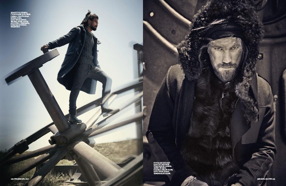 GQ Russia: Henrik Fallenius Dons Furs & Shearling