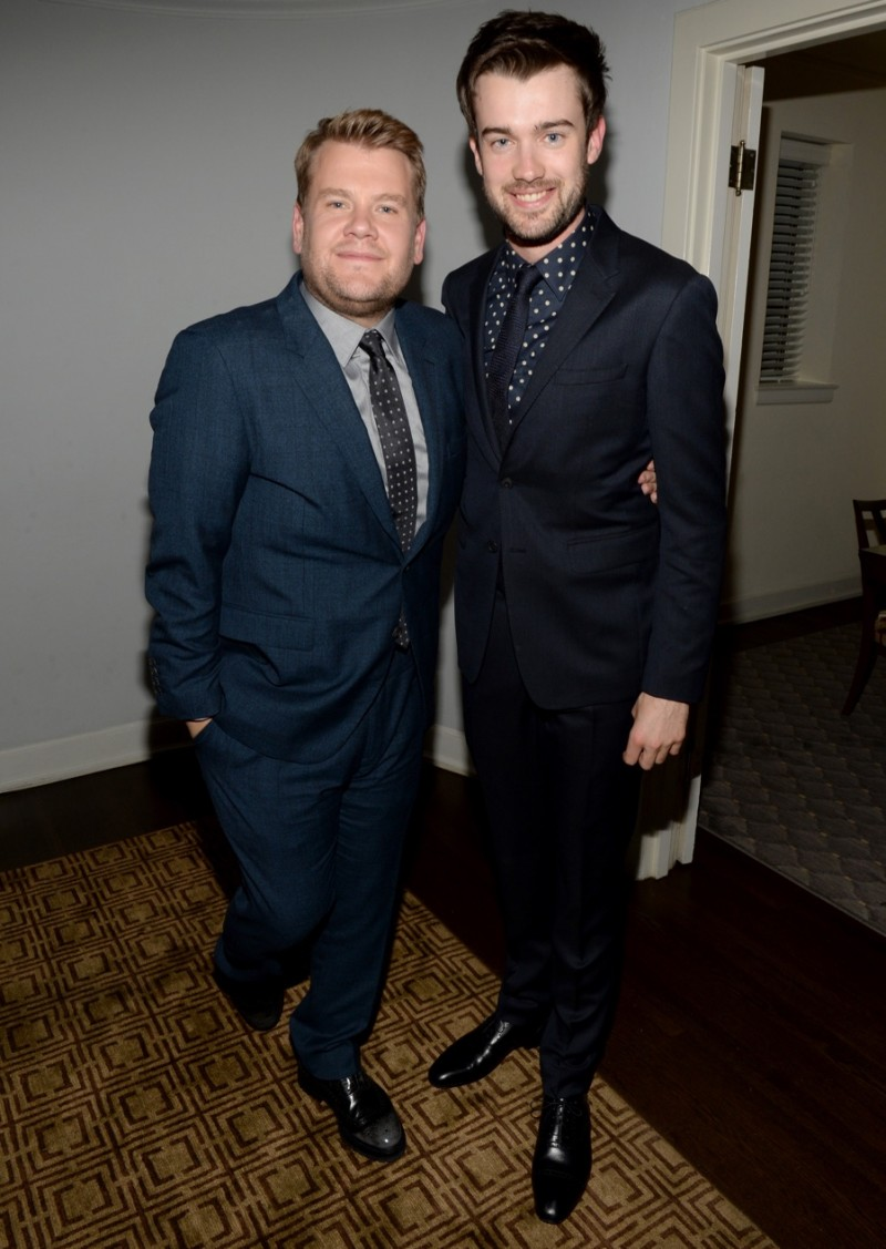 James Corden and Jack Whitehall in Burberry