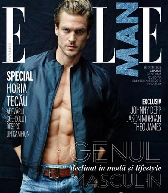 Jason Morgan covers the most recent issue of Elle Man Romania.