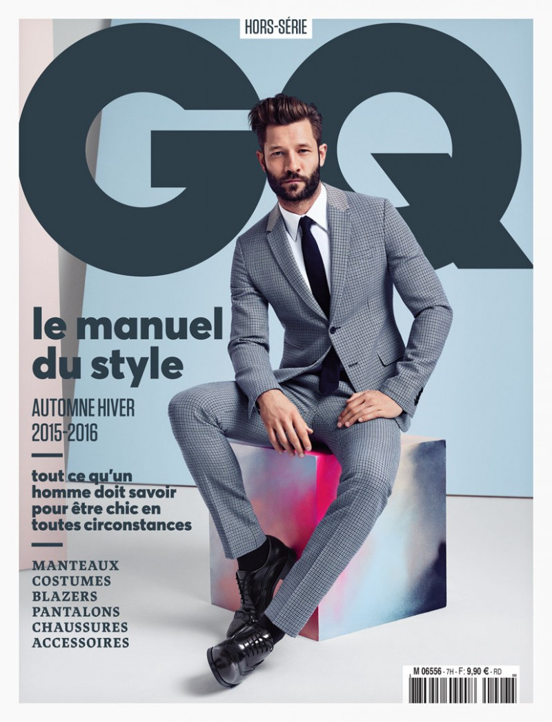 John Halls covers GQ France's Style Manuel.