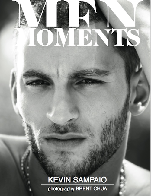 Kevin Sampaio covers the most recent issue of Men Moments.