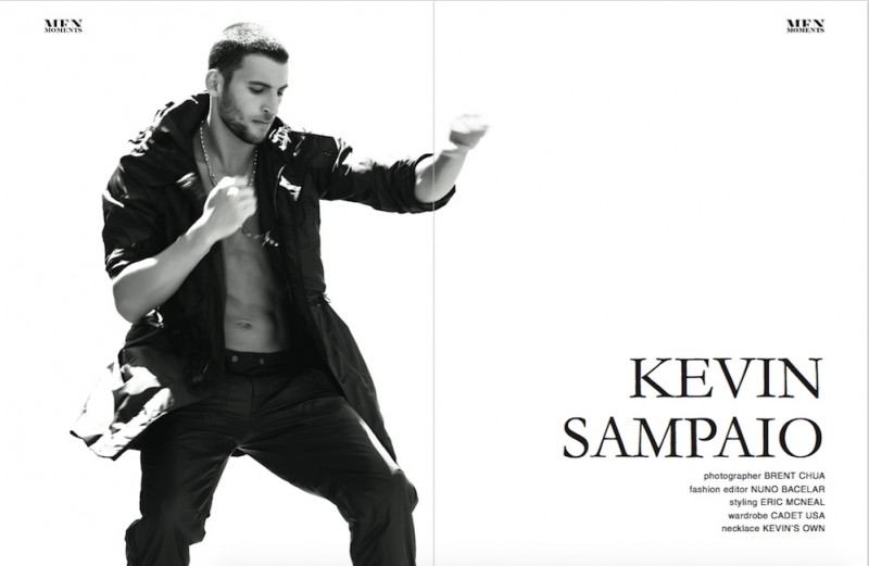 Kevin Sampaio graces the pages of Men Moments.