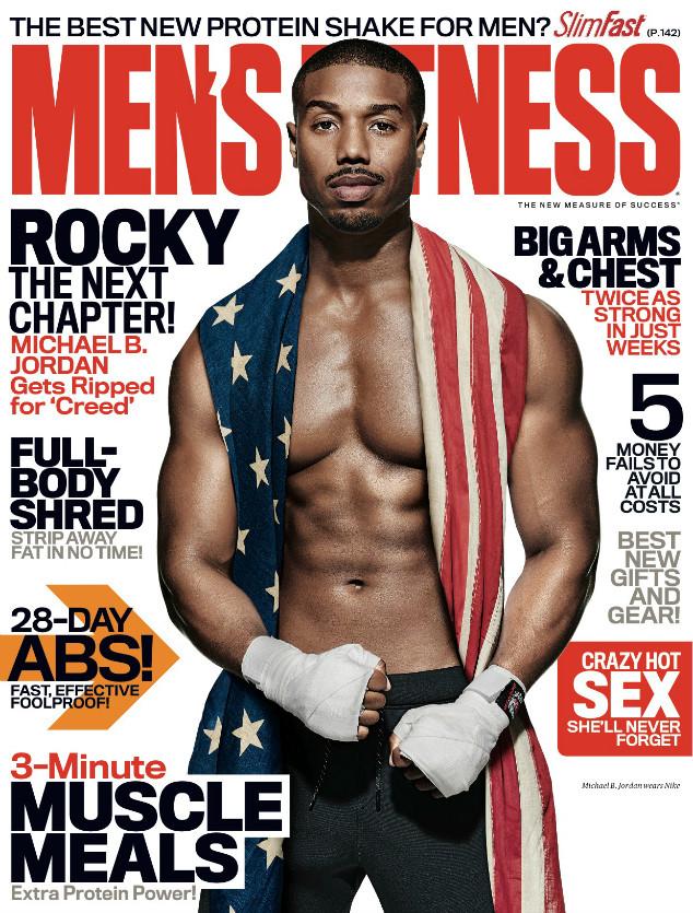 Michael B. Jordan Dons Stars & Stripes for Men's Fitness Cover