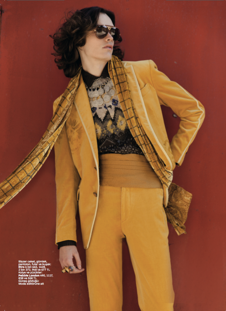 GQ Turkey: Oliver Greenall is Cool Beans for 1970s Inspired Shoot