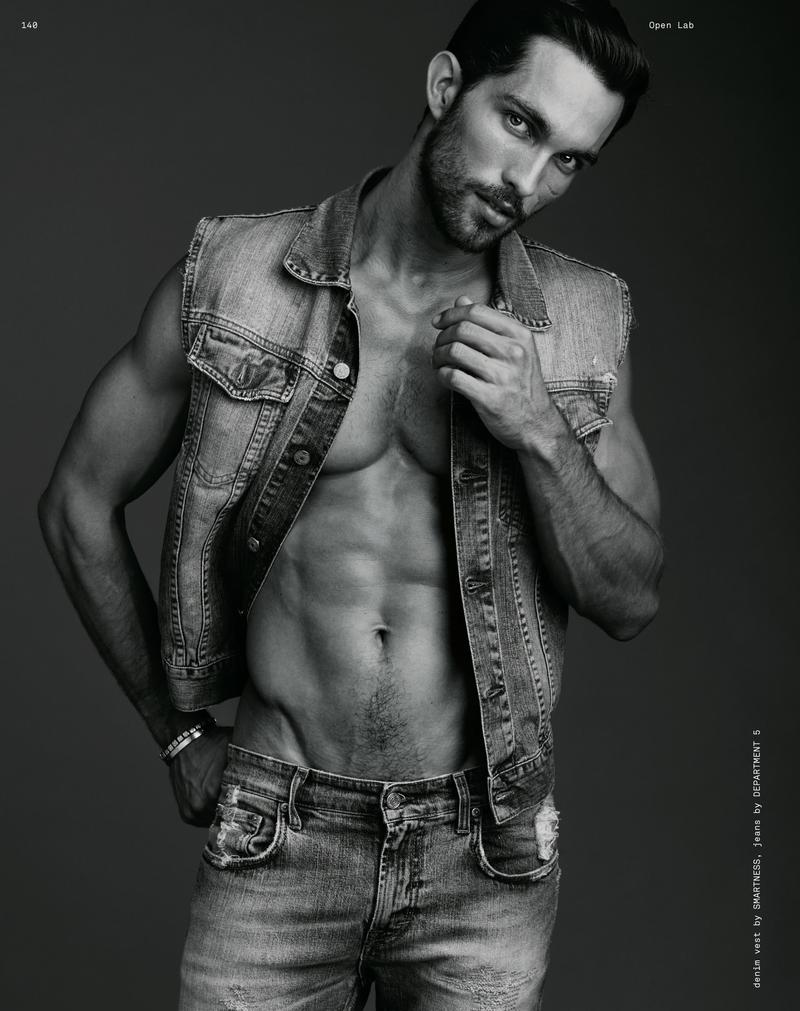 Models Pose in Denim & Leather for Open Lab Shoot