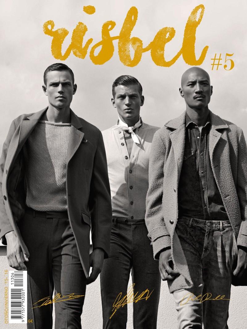 Tom Barker, Paolo Roldan + Sebastian Sauve Model Perry Ellis for Risbel
