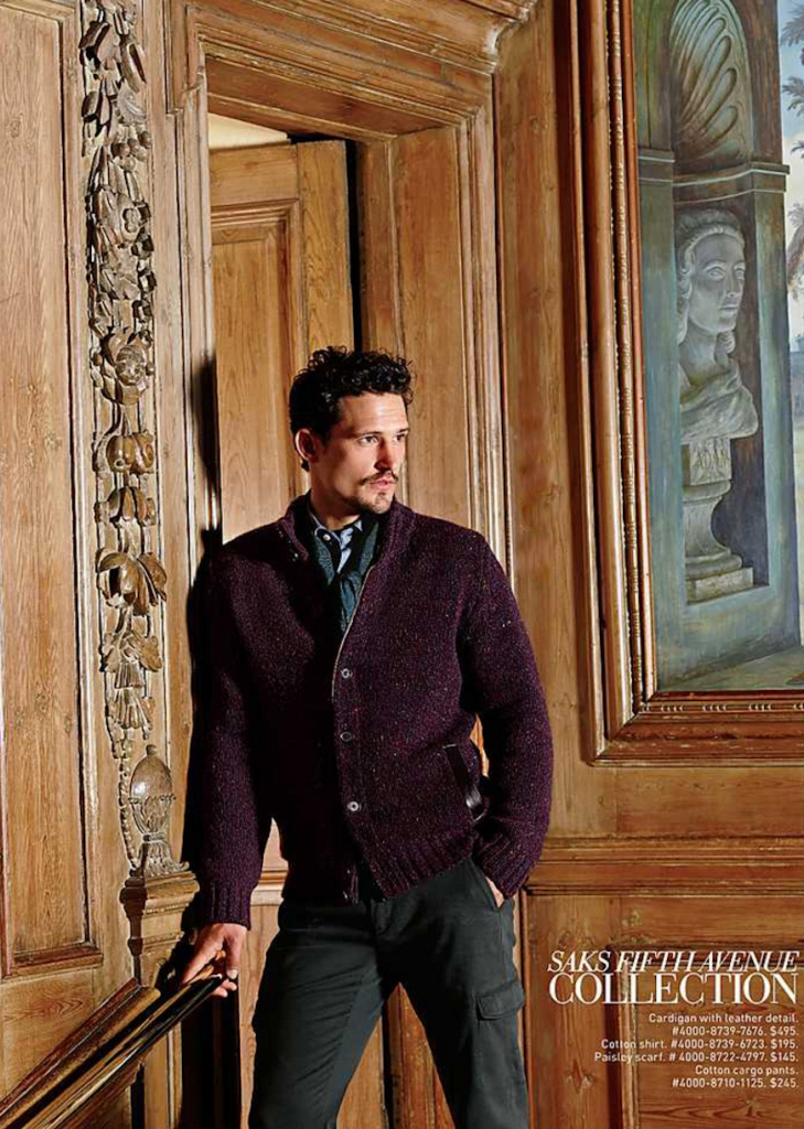 Saks Fifth Avenue Collection: Sam Webb Dons Luxe Outerwear