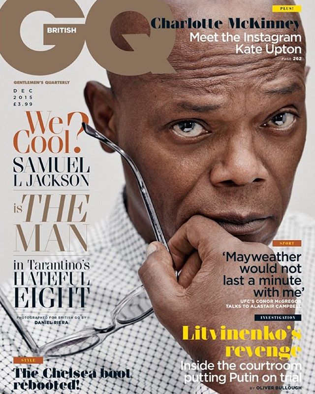 Samuel L. Jackson Covers British GQ, Talks Watching His Own Movies