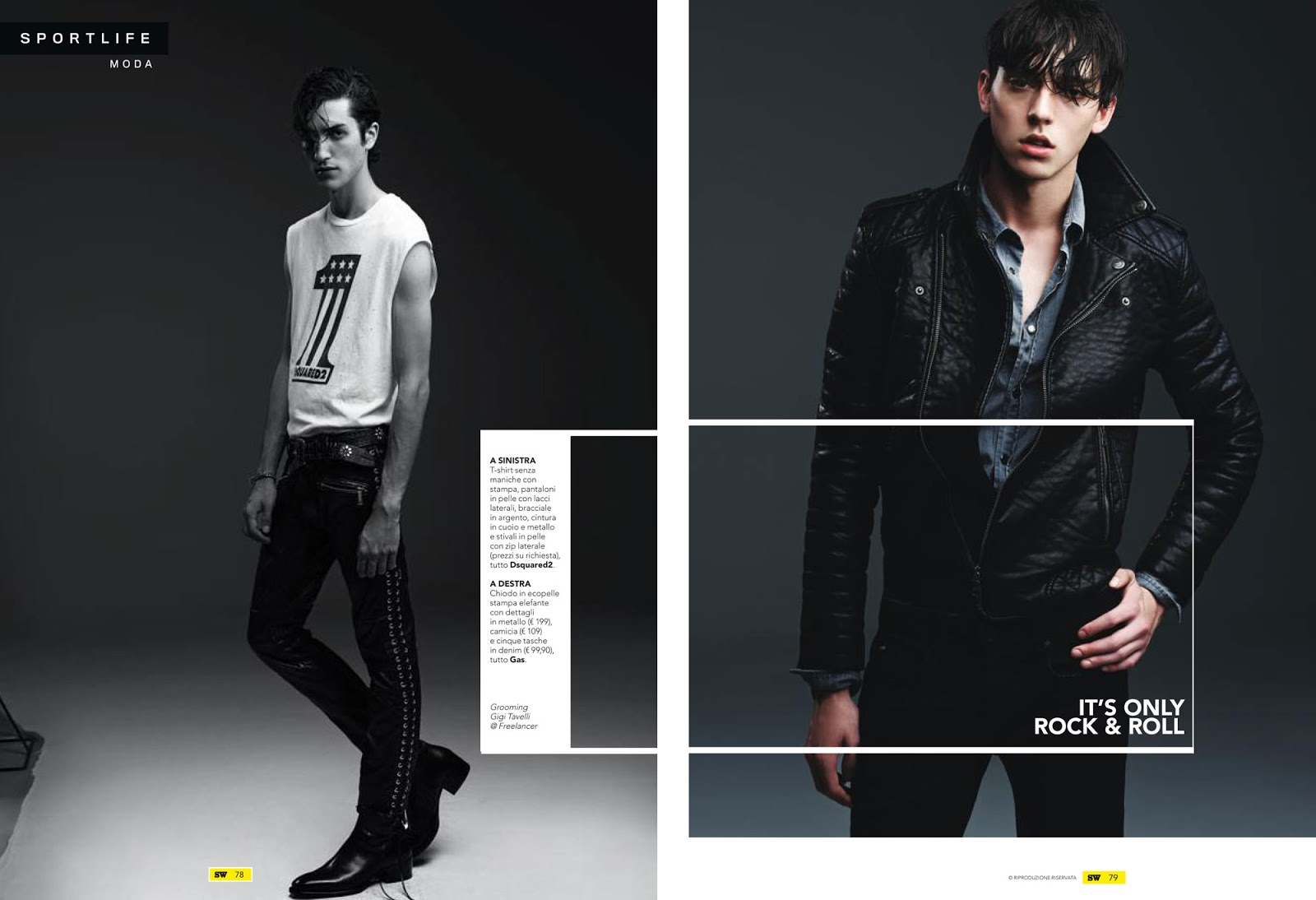 It's Only Rock & Roll: Sportweek Features Cool Leathers