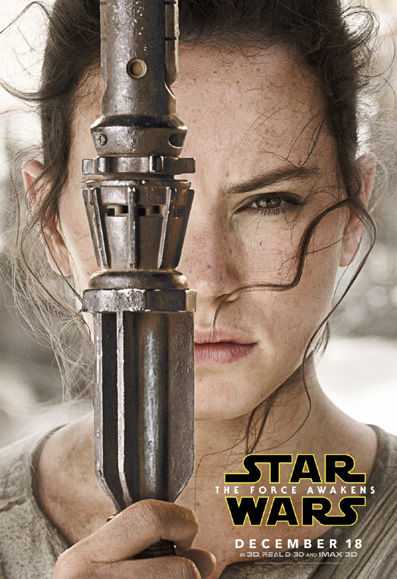 Star Wars: The Force Awakens Movie Poster Featuring Daisy Ridley as Rey