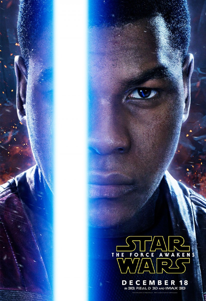 Star Wars: The Force Awakens Movie Poster Featuring John Boyega as Finn