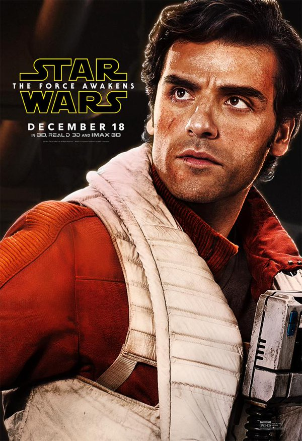 Star Wars: The Force Awakens Movie Poster Featuring Oscar Isaac as Poe Dameron
