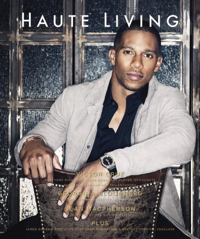 Victor Cruz covers Haute Living