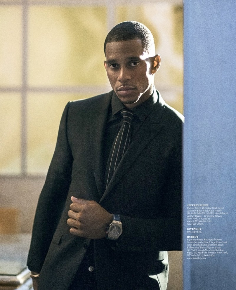 Victor Cruz suits up for Haute Living