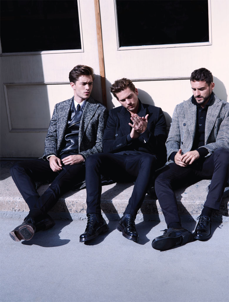 Francisco Lachowski, Adam Senn + Arthur Kulkov Clean Up for Vogue Hombre